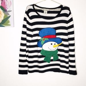 Vintage | Snowman Ugly Christmas Sweater L